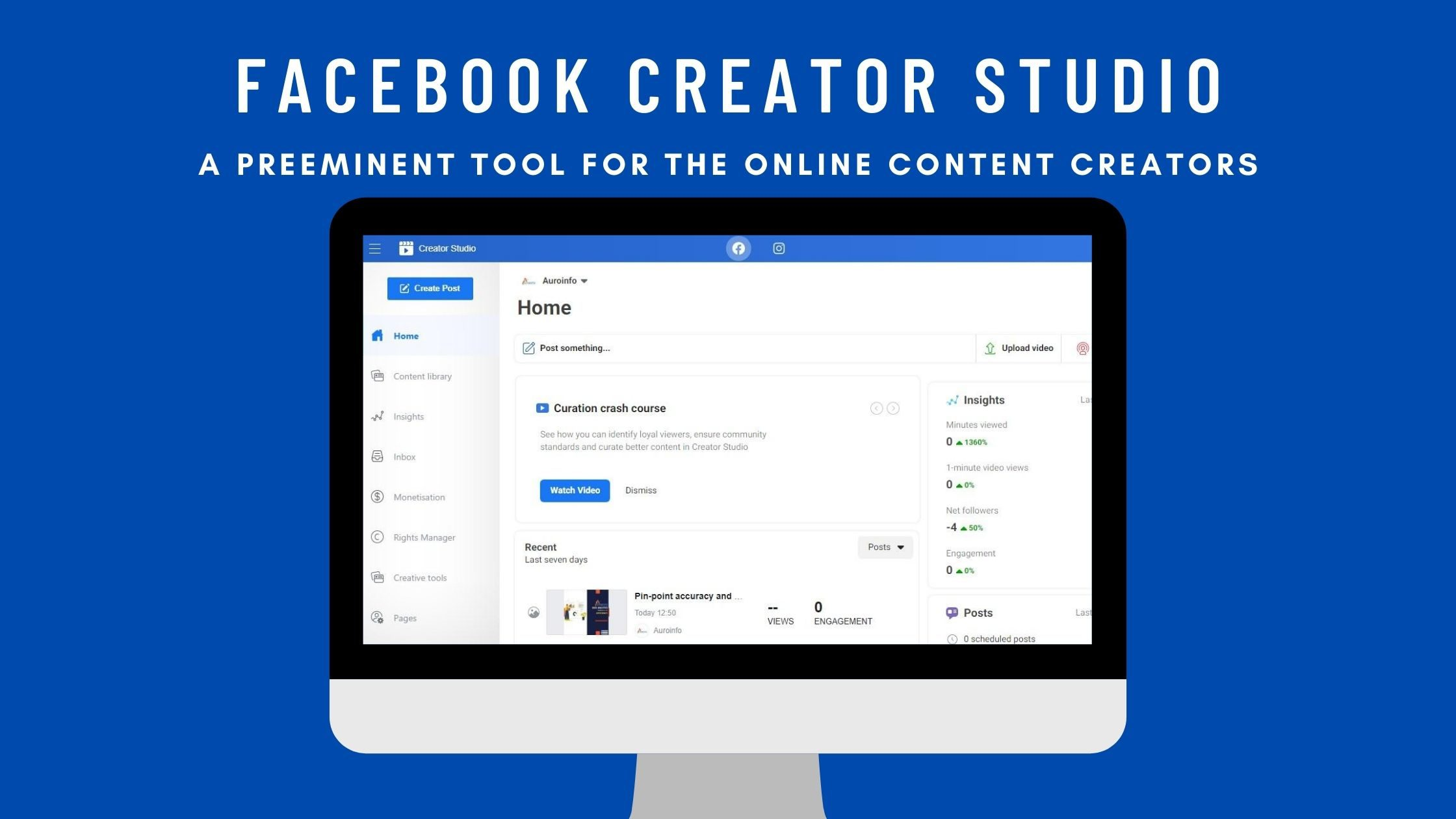 Facebook Creator Studio- A Preeminent Tool For the Online Content Creators